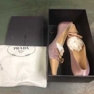 Prada 1P1424 rose kitten heel 39.5 women's 9.5